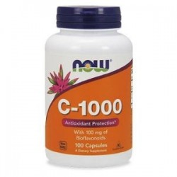 Now Foods Vitamin C-1000 with Rose Hips & Bioflavonoids 100 tabs